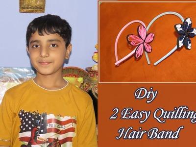 DIY 2 Easy Paper Quilling Hair band by Sahil Sachdeva .