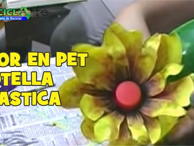 DIY FLOR EN PET BOTELLA PLASTICA. FLOWER IN PET PLASTIC BOTTLE
