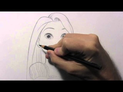 "Drawing Time Lapse: Rapunzel from ""Tangled"""