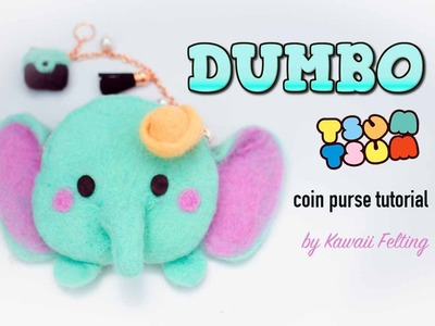 Dumbo Tsum Tsum Coin Purse | Needle Felting. Wet Felting Tutorial [feat. Budget Hobby]