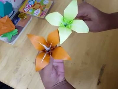 Easy Origami Lily Flower