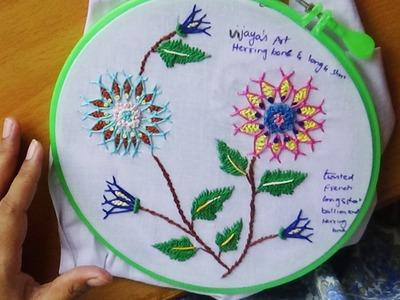 Hand Embroidery Designs # 128 - Chemanthy Flower (variation)