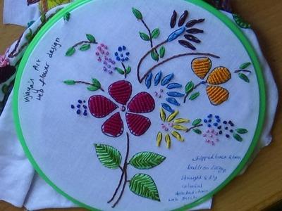 Hand Embroidery Designs # 156 - Web flower Design