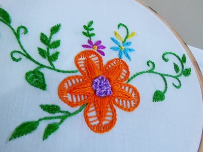 Hand Embroidery: Twisted Chain Flower Stitch