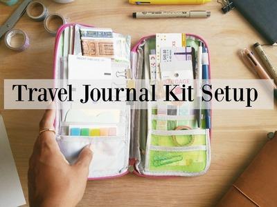 How I Set Up My Travel Journal Kit