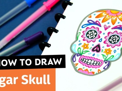 How to Draw a Sugar Skull | Sea Lemon