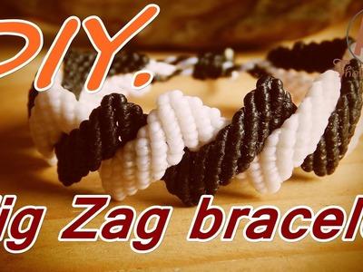 How to make a macrame zig zag knot bracelet