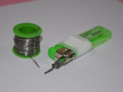 How to make a soldering iron by Lighter - creative video