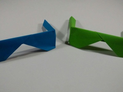 How to make glasses - Origami