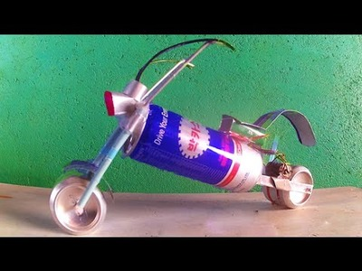 How to make toy motorcycle motor | motorcycle mini Electric vs Bacchus cans