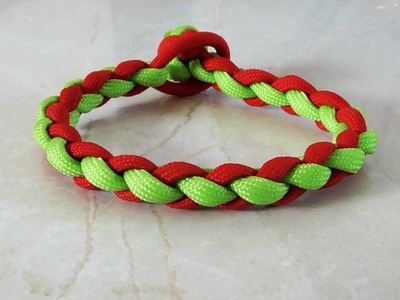 How To Tie A Four Strand Round Braid Paracord Survival Bracelet
