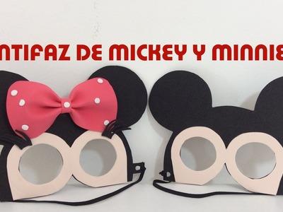 IDEAS PARA FIESTAS INFANTILES DE MINNIE Y MICKEY MOUSE. ANTIFAZ