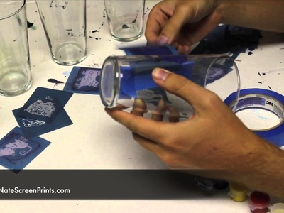 INCREDIBLY Easy Way to Screen Print Glass at Home!
