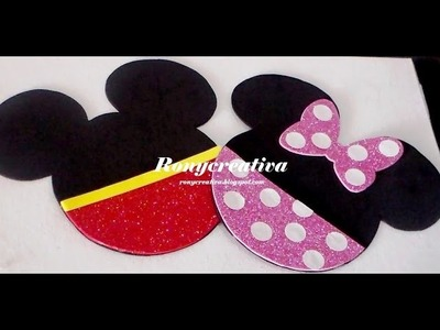 Invitaciones Minnie y Mickey Mouse con solo 3 materiales muy fácil. Ronycreativa