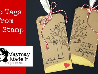 Mass Producing Tags using One Focal Stamp, the MISTI and Some Accents Stamping Saturday