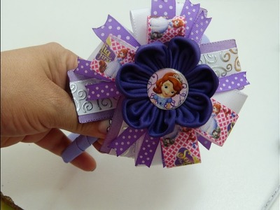 Moño facil de liston y flores lindas de tela, Make Simple Easy Bow, video 546