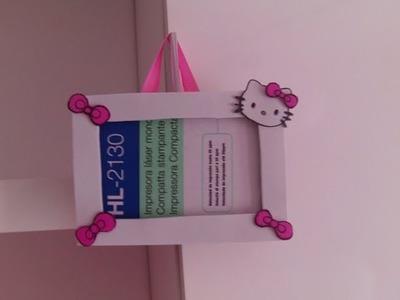 Nuevo marco de fotos de goma eva y carton Hello Kitty