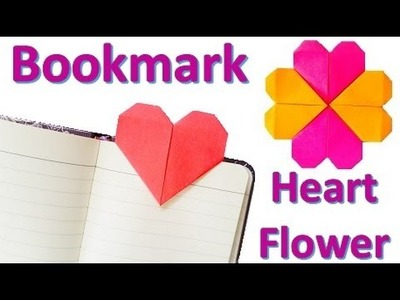 Origami HEART bookmark & HEART flower