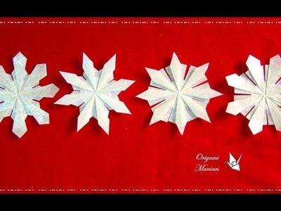 Origami Maniacs 218:4 Kinds of Snowflakes. 4 Tipos de Copos de Nieve