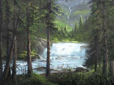 Painting from a Photo | Canadian Waterfall | Paint with Kevin Hill