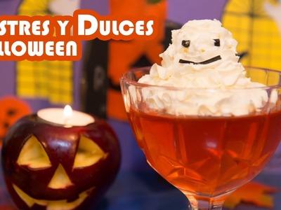 Postres y Dulces con Fantasmas y Oreos de  Halloween