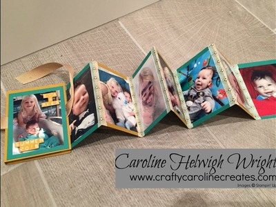 Quick and Easy Washi Tape Mini Album - Video Tutorial with Stampin' Up Products