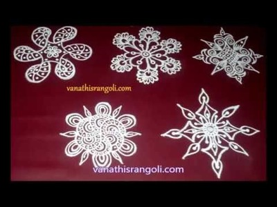 Simple Rangoli - Flower  Designs for Beginners Part -13