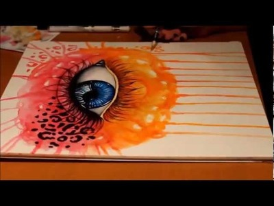 Speedpainting - Watercolor Eye (coloring)