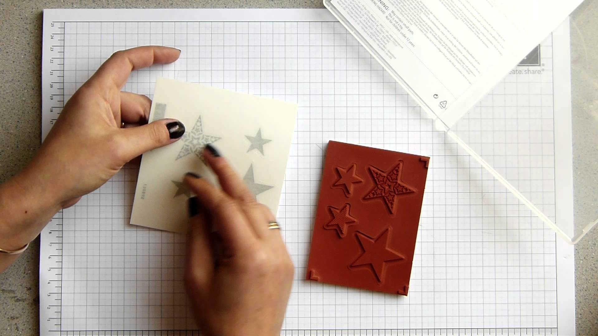Stampin Up How to Mount Clear and Wood Stamps