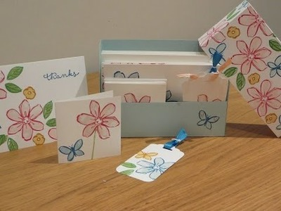 Stationery Set Tutorial using Garden in Bloom by Stampin' Up