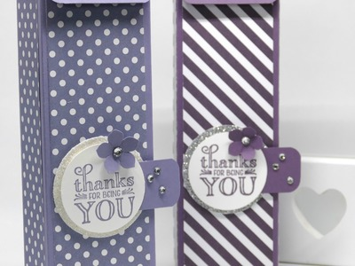 Tall Cute Box using Stampin' Up! Me = Grateful Stamp Set