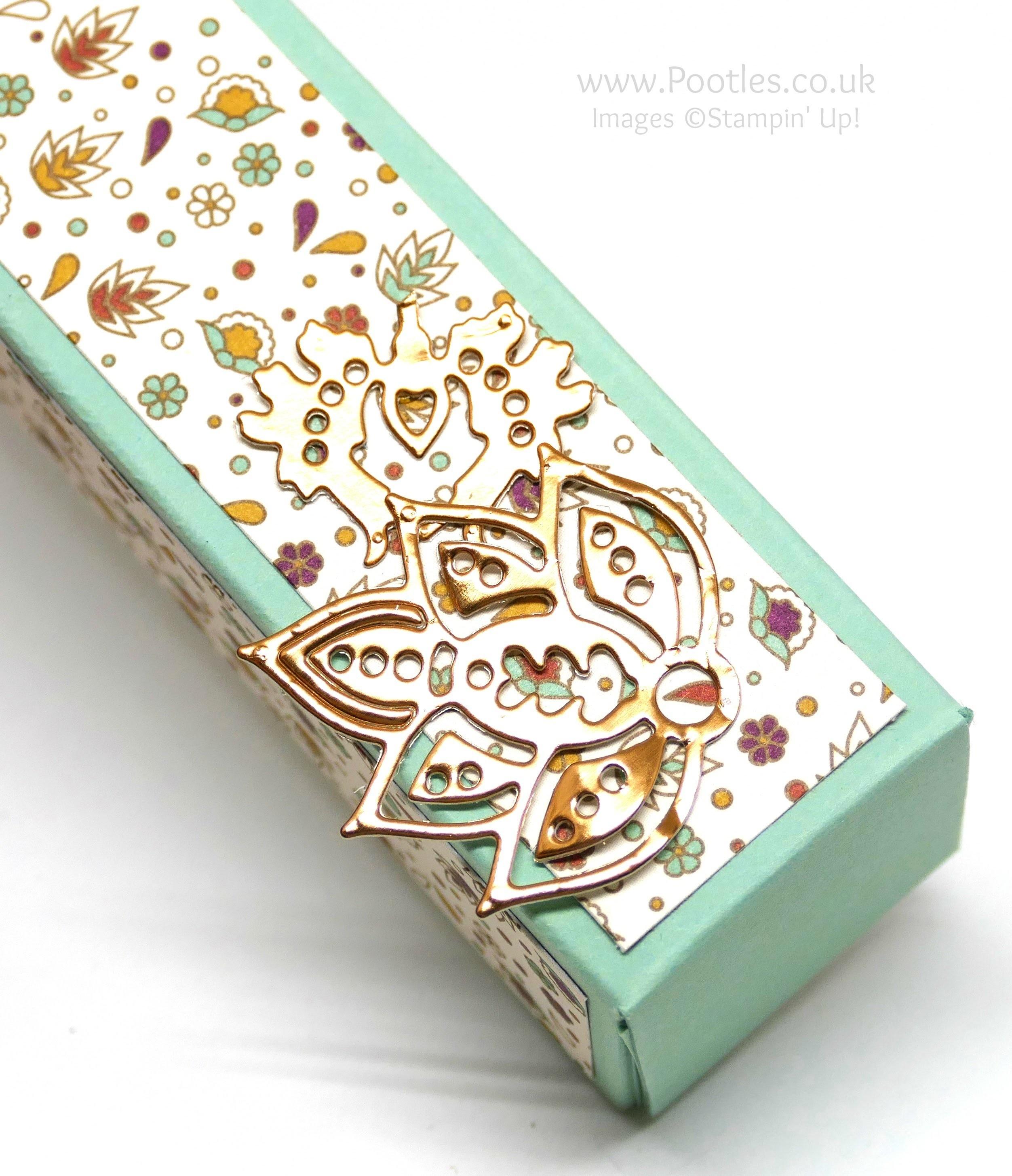 Tall Slender Pretty Box using Stampin' Up! Petals & Paisleys