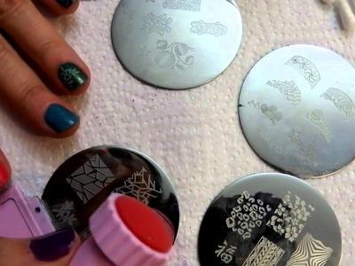 Tutorial uñas decoradas (Nail art) en vídeo Nº20 Estampación de uñas - Bundle monster.MP4