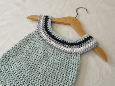 VERY EASY crochet circle neck baby dress tutorial