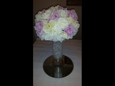Wedding Series- Affordable  Centerpiece! Oh yeah, did I mention all items were found at Dollar Tree?