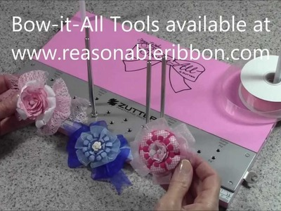 Zutter Bow-it-All Tutorial * Easy Hairbows with Really Reasonable Ribbon