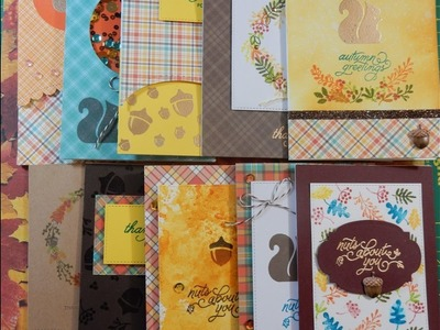 10 Cards 1 Kit | October 2016 Simon Says Stamp Card Kit | Nuts About You