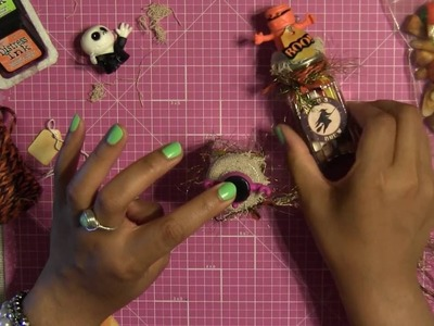 #28 Let's Make Halloween Candy Jar for Adults -  Party Favor Ideas