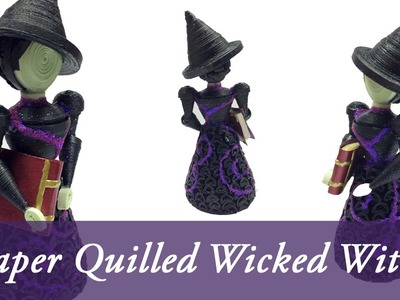3D Paper Quilled ELPHABA (WICKED The Musical)