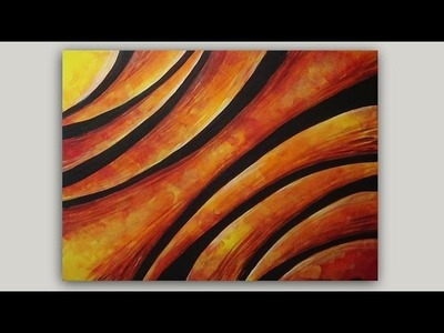 Abstract Arches Step by Step Acrylic Painting on Canvas Tutorial