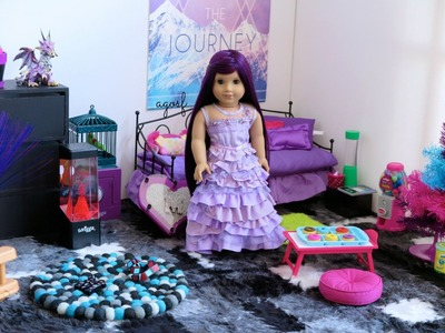 American Girl Doll Disney Descendants Mal's Bedroom ~ HD!