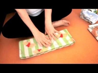 (ASMR) Folding baby clothes & blanket (ASMR)