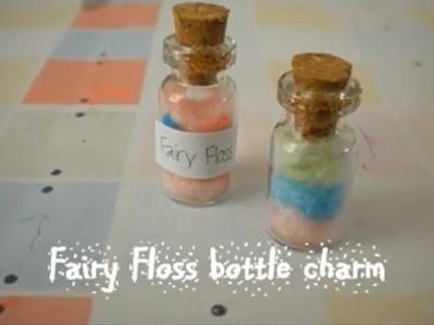 Bottle Charm: Cotton Candy.Fairy Floss