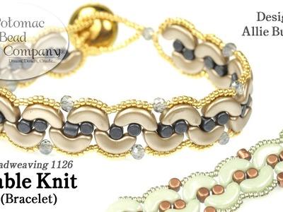Cable Knit Bracelet (Tutorial)