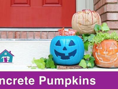 Concrete Pumpkin for Fall Decor