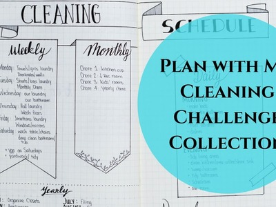 Creating a Cleaning Schedule Collection in my Bullet Journal