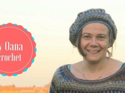 Crochet granny stitch beret  by Oana
