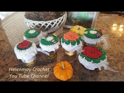 Crochet Quick Easy Beginner Christmas Jar Topper DIY Tutorial
