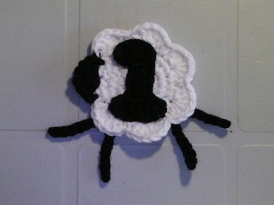 CROCHETED NUMBER 1TUTORIAL - COUNTING SHEEP SHELL STITCH BABY BLANKET