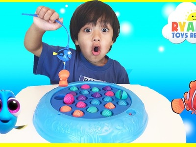Disney Finding Dory Fishing Game Shell Collecting Chocolate Eggs Surprise Toys Disney Cars Go Fishin